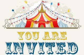 Circus Theme Party Invitation - Danielle DeGroft