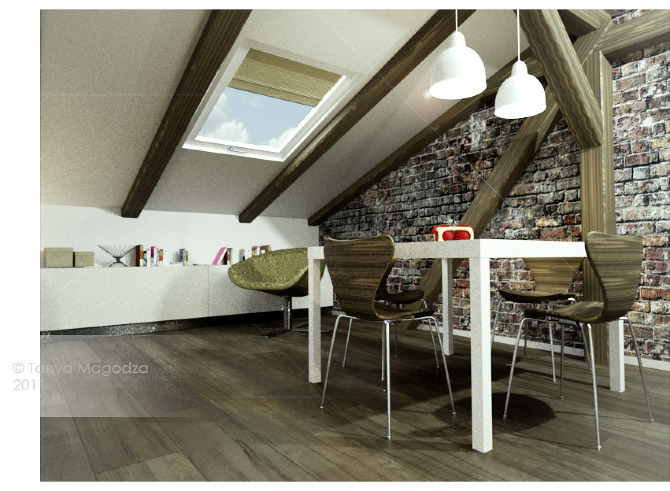 Mansard roof interiors magodza for Mansard roof pros and cons